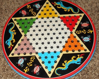Chinese Checker Board - Vintage Games - Vintage Toys - Checkers - Chinese Checkers