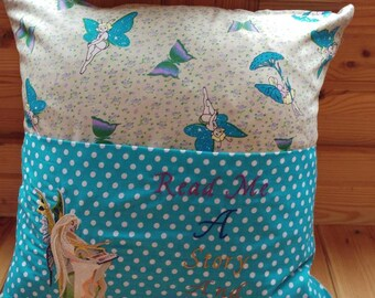 Fairy reading pillow cover