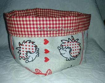 Fabric basket pattern hedgehogs
