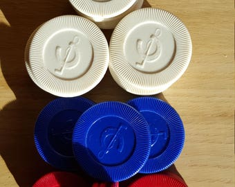 Horseshoe & Whip vintage poker chips - PRICE INCLUDES SHIPPING