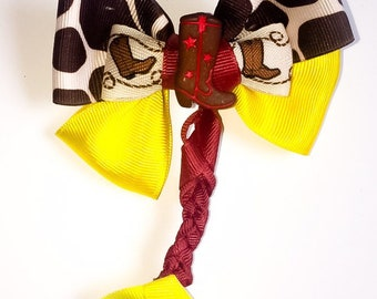 Jessie hair bow/ toy story jessie hair bow/ pixar hair bow/ disney hairbow/ jessie woody