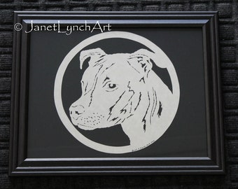 Choose Your Dog Breed - Most Breeds Available - Scherenschnitte Paper Cutting Art -Dogs - Hand Cut  By Janet Lynch