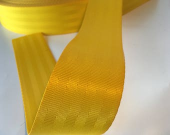 "1m Bright yellow polyester Webbing 50mm/2"" wide - seatbelt type webbing, bag strap, bag handle"