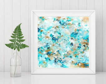 Abstract Art Printable - Abstract Art Print - Abstract Painting Print - Instant Download - Square Art Print - Expressionist Art - 8x8 10x10