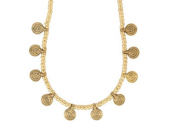Sikkā necklace, Gold Necklace, Indian Necklace, India, Tribal Necklace
