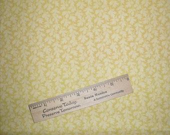 P&B Fabric, Yellow, 1 YARD, Leaf design, Jasmine, OOP, Quilt fabric, cotton, Destash, Blender