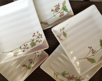 Japanese square plate , set of 5