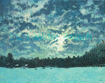 Martin Luther King Jr Day Sunrise Over Whittier Birthplace Original Painting by Mister Reusch