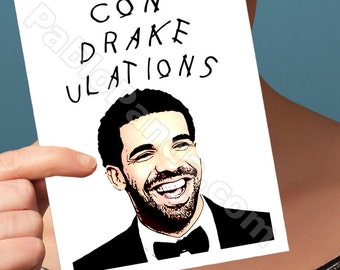 Congratulations Card | Drake Card | Handmade Greeting Husband Gift For Mom  Paper Goods Cute Gifts For Boyfriend  Drizzy Funny Greeting Card