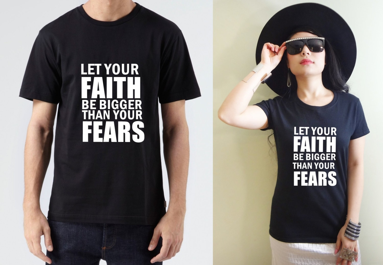 Faith Over Fear Christian Shirt Faith Over Fear Tee Faith