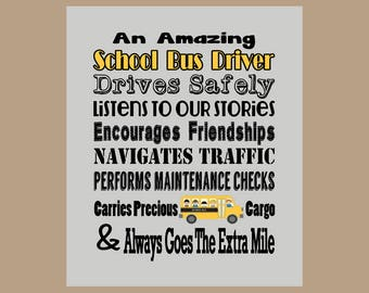 School Bus Driver Gift, School Bus Driver Thank You, School Bus Driver Appreciation, Gift for Bus Driver, End of Year Gift, Instant Download