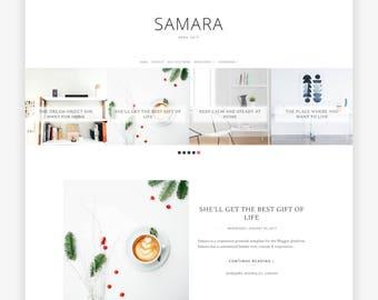 Blogger Template - Responsive - Blogger Theme - Premade Blogger Templates - BlogSpot Template - Minimal - Blogger Blog - Sale Samara