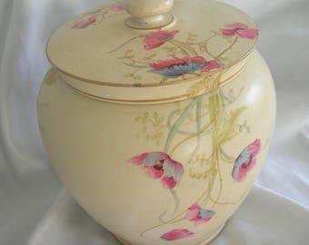 H & G Chelsea Royal Pottery Covered Ginger Jar | Burslem England | Antique 1890-1909