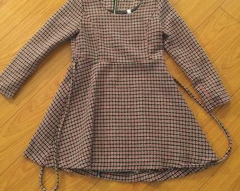 Vintage looking short empire dress stitch pattern long sleeve