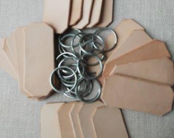 Keyring blanks, leather keyring blanks, Craft Supplies, raw materials, various sizes leather keyfob blnks.