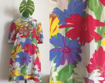 See By Chloé Vintage Silk Floral Dress/ 60'ish Summer Dress
