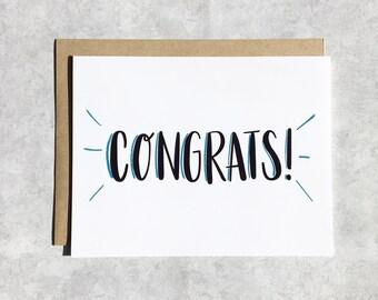 Congratulations Card - Congrats!