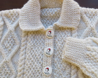 Cable knit cardigan for stylish 2 year old