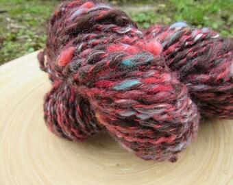 Handspun yarn - merino wool tencel - thread plied - 80 grams 118 yards