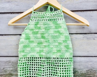 Lime Green Handmade Crochet top