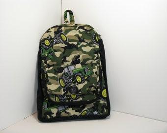 John Deere in Tan Camo Preschool Backpack