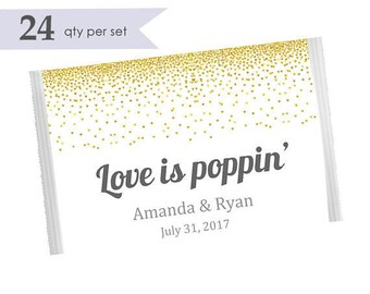 Thanks for Popping By- Popcorn Wedding Favors- Thanks for Popping By Stickers- Popcorn Labels- Popcorn Stickers- Wedding Popcorn