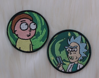 Rick and Morty Embroidered Iron On Patch