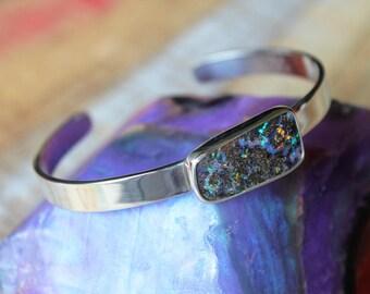 Fiery Boulder Opal Cuff Bracelet