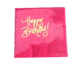 Happy Birthday Napkins (Qty 25)