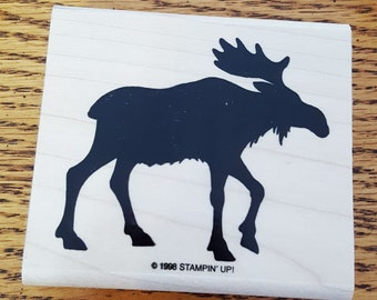 Moose Shadow Rubber Stamp retired from Stampin Up