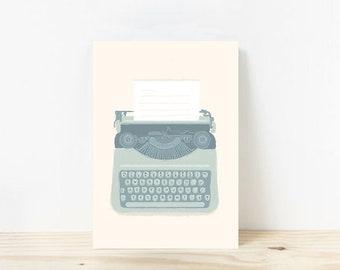 Typewriter poster A4 350 gr mat