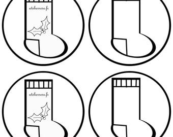 fabric pattern Christmas boot