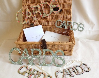 Wedding sign for cards hanging Word cards