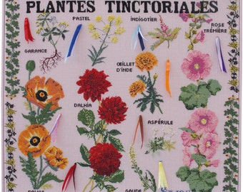 Tinctorial Plants cross stitch pattern chart Musuem and Heritage Collection