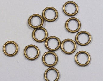 6mm Closed Jump Rings - Antique Brass - Choose Your Quantity