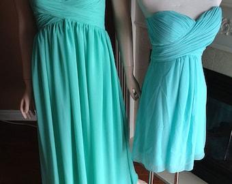 Turquoise bridesmaid dress, Prom dress 2016 - Sweetheart, strapless chiffon dress