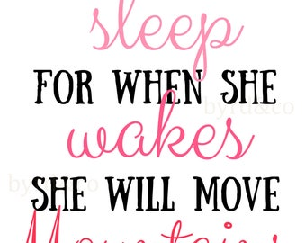 Digital Print-16X20- Instant Download-Let Her Sleep