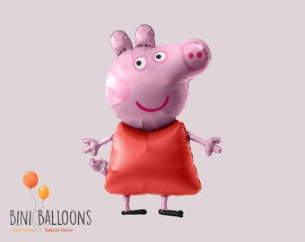 Peppa Pig Airwalker Birthday Balloon | Peppa Pig Party Decoration | Airwalker Balloon
