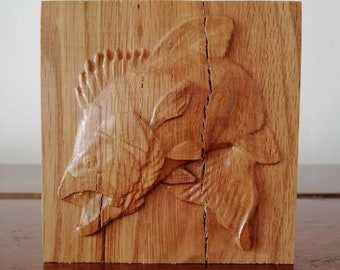 Solid Oak Wood Rosette Corner Blocks Great for Home Leaping Bass, Jumping Fish