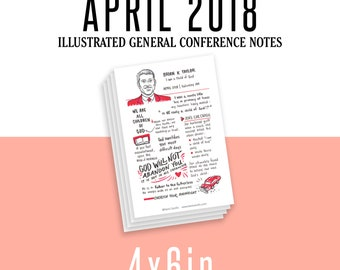 1 per page 4x6in General Conference Illustrated Notes - April 2018