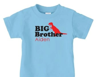 Big brother dinosaur shirt, personalized sibling shirts, announcement shirt, big brother gift, personalized gifts