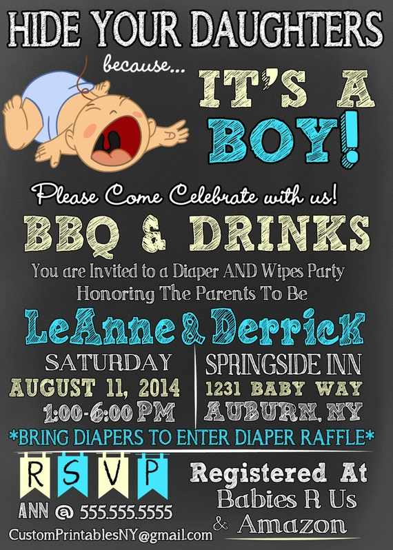 Hide your daughters because its a boy baby shower