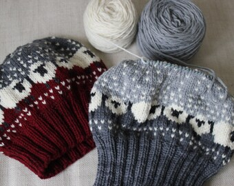 Baa-ble Hat Yarn Kit - Includes FOUR colors of Quals, Worsted Weight Hand Dyed Yarn - Pattern NOT Included