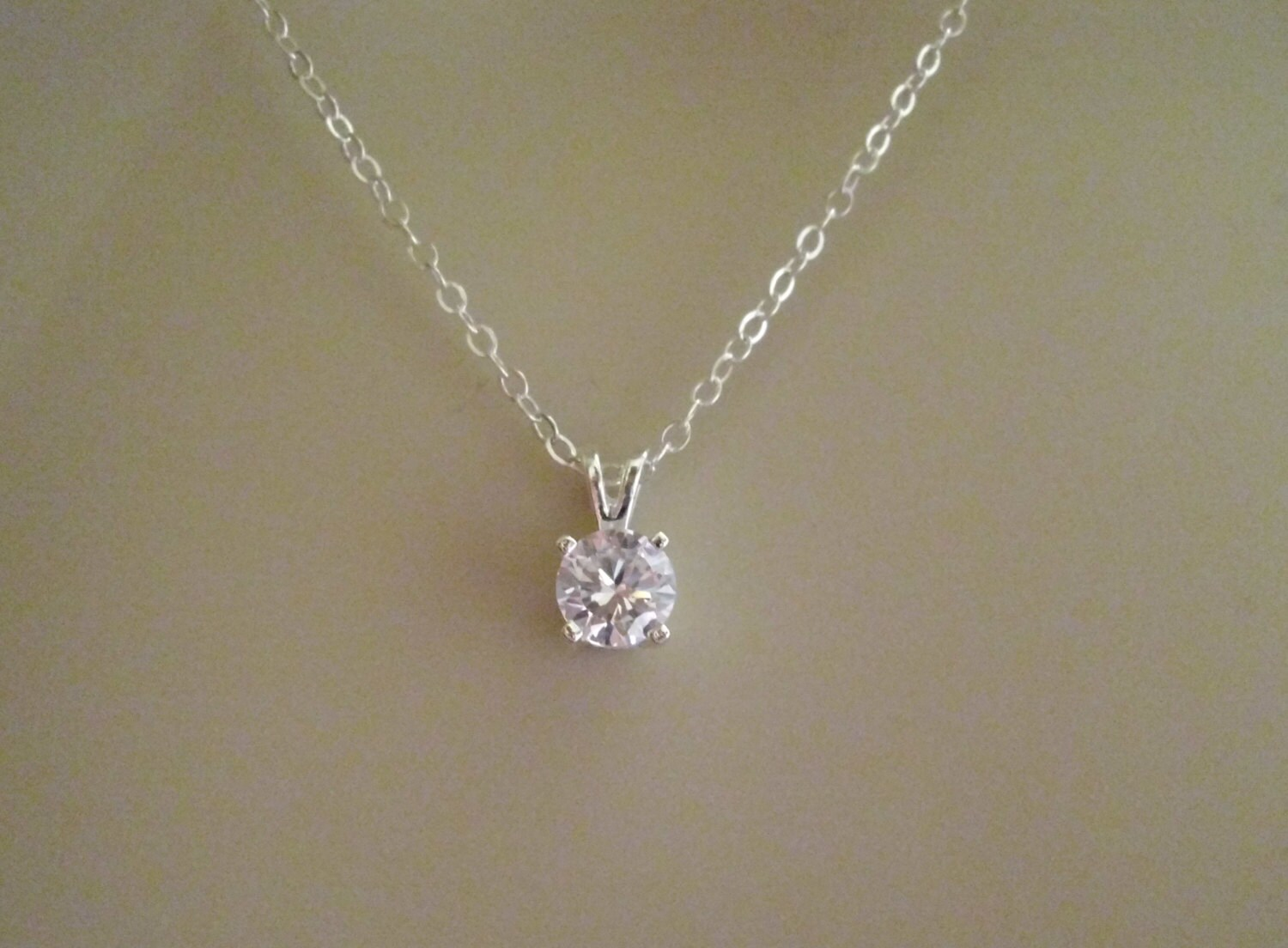 Sterling silver cubic zirconia pendant necklace faceted cubic zoom aloadofball Gallery