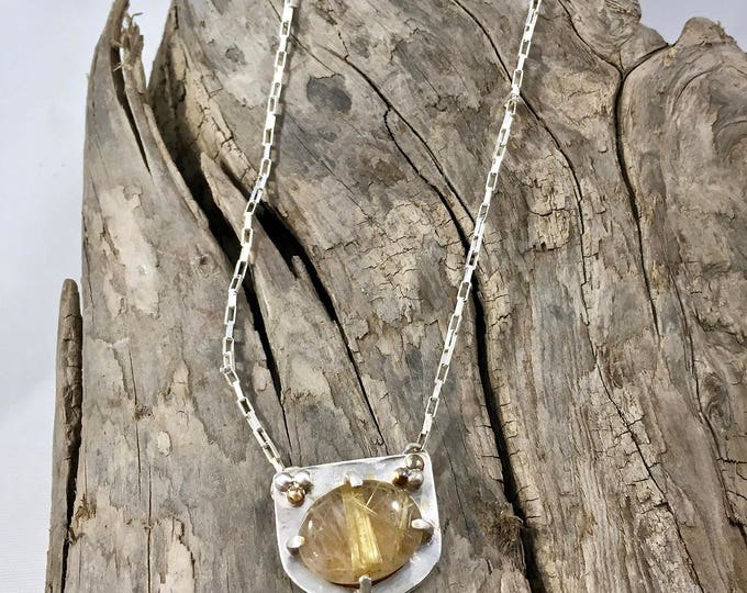 Featured listing image: Quartz Pendant Necklace