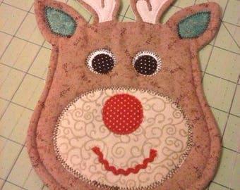 NEW - Reindeer Mug Rug - Coasters - New Christmas 2017 Design - Christmas Gift - Mug Rugs - Coasters