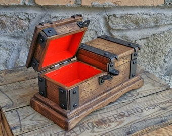 wood jewelry box rustic wood watch box reclaimed wood