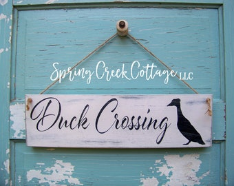 Chicken Signs, Duck Crossing, Duck Signs, Chicken Coop Decor, Rustic, Chicken Coop Sign, Wood Signs, Barn, Chicken Decor, Farm, Handpainted