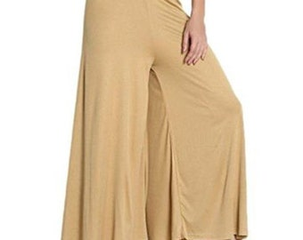 Cotton Palazzo Pant Women's Casual Wear stretchable Designer Plain Solid Indian Women