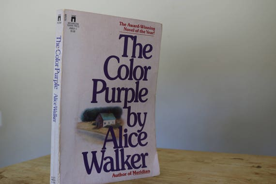 the color purple by alice walker vintage paperback book used